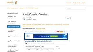 Admin Console: Overview – MemberHub Help Center