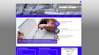 Welcome to Merchants and Farmers Bank