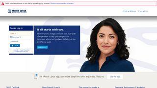 MyMerrill.com - Merrill Lynch - Login