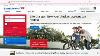 Bank of America - Banking, Credit Cards, Home Loans and Auto Loans