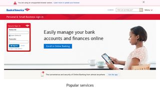Sign in to Bank of America Online & Mobile Banking to Manage Your ...