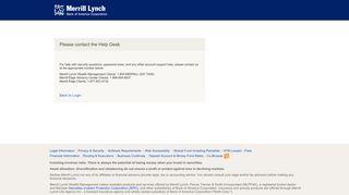 Merrill Lynch - Call HelpDesk