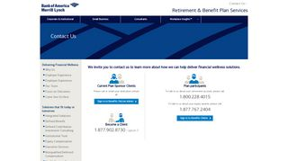 Contact Us Information   Bank of America Merrill Lynch