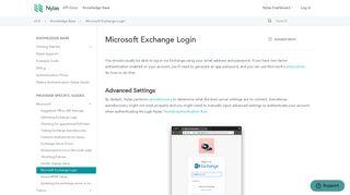 Microsoft Exchange Login - The Nylas APIs