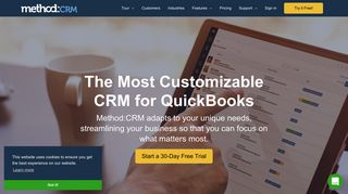 Method:CRM | #1 CRM for QuickBooks | Recommended by ProAdvisors