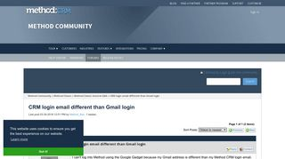 CRM login email different than Gmail login - Method Community ...