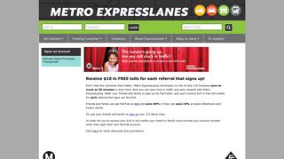 Receive $10 in FREE tolls for each referral that signs up! - Metro ...