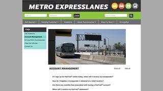 Account Management - Metro ExpressLanes