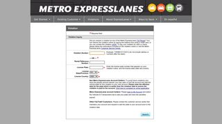 Violations - Metro ExpressLanes