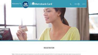 Registration - Metrobank Card