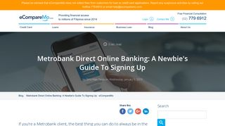 Metrobank Direct Online Banking: A Newbie's Guide To Signing Up ...