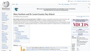 Mary Institute and St. Louis Country Day School - Wikipedia