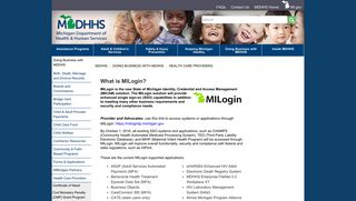 MDHHS - MILogin - State of Michigan