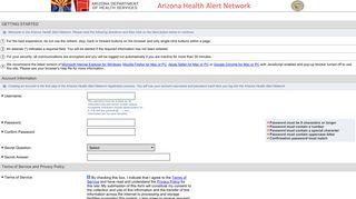 AzHAN - Arizona Health Alert Network
