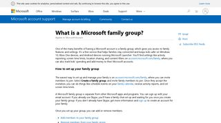 What is a Microsoft family group? - Microsoft Support