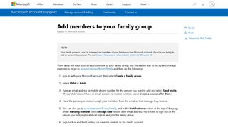 Add members to your family group - Microsoft Support
