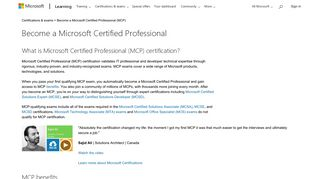 Microsoft Certified Professional (MCP) Certification | Microsoft Learning