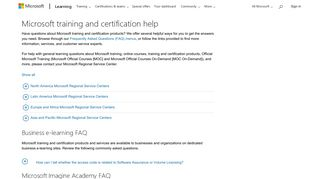 Microsoft training and certification help