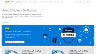 Microsoft Technical Certifications | Microsoft Learning