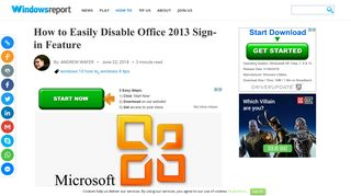 How to Easily Disable Office 2013 Sign-in Feature - Windows Report