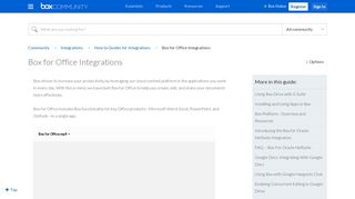 Box for Office Integrations - Box Community