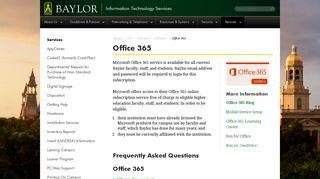 Office 365 | Information Technology Services | Baylor University