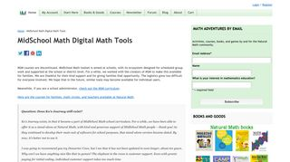 MidSchool Math Digital Math Tools - Natural Math
