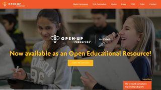Math Curriculum - Open Up Resources