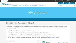 Register My Account - Midco