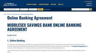 Online Banking Agreement — Middlesex Savings Bank | Middlesex ...