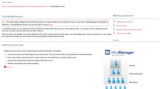 Your Mindjet Account - Mindjet Help Server