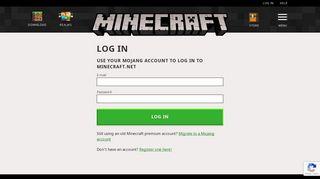Log in   Minecraft
