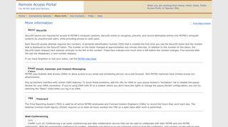 MITRE Remote Access Portal: More Information