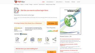 Uia Marvin Online Login - Fill Online, Printable, Fillable, Blank | PDFfiller