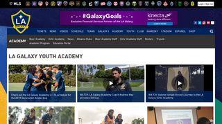 LA Galaxy Youth Academy | LA Galaxy