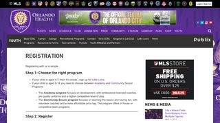 Registration | Orlando City Soccer Club