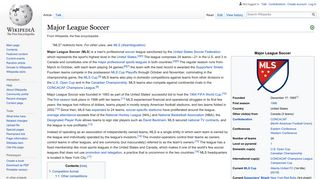 Major League Soccer - Wikipedia