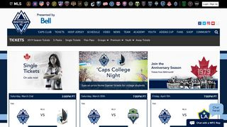 OFFICIAL Tickets | Vancouver Whitecaps FC