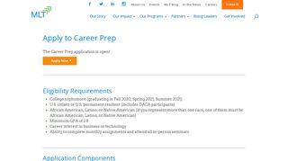 Apply to Career Prep - Management Leadership for Tomorrow