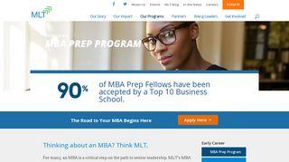 MBA Prep Program - Management Leadership for Tomorrow