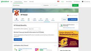 M*Modal Employee Benefits and Perks | Glassdoor.ca