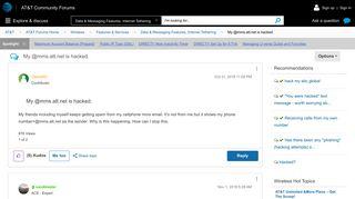 My @mms.att.net is hacked. - AT&T Community