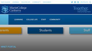 mNet Portal | Marist College Canberra