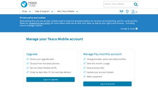 Manage your account - Tesco Mobile