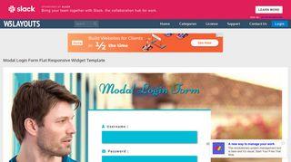Modal Login Form Flat Responsive Widget Template - W3layouts