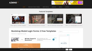 Bootstrap Modal Login Forms: 2 Free Templates | AZMIND