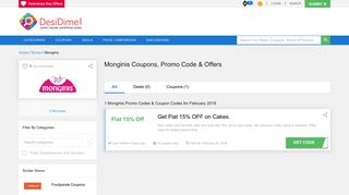 Monginis Coupons, Promo code, Offers & Deals - January 2019
