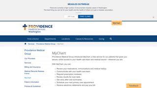 MyChart   Providence Washington