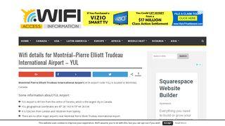 Wifi details for Montréal–Pierre Elliott Trudeau International Airport ...