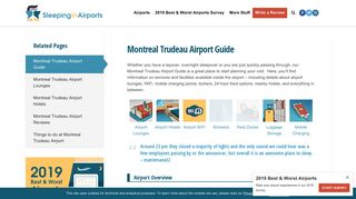 Montreal Trudeau Airport Guide - Sleeping in Airports